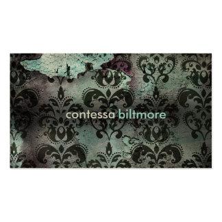 GC | Captivating Contessa | Teal | MatteCreamCard Business Card Template