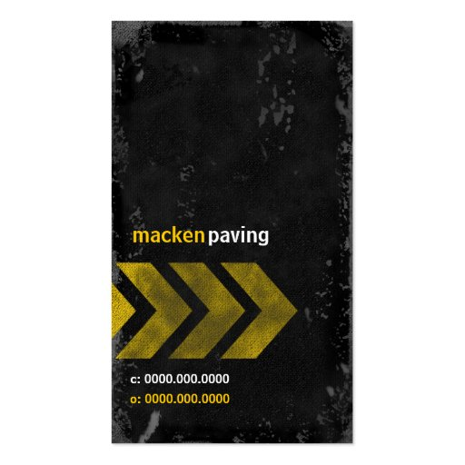GC   CONCRETE MACKDADDY BUSINESS CARD TEMPLATES