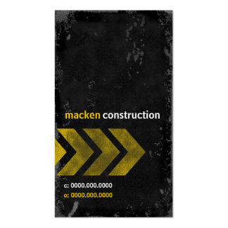 GC | CONSTRUCTION MACKDADDY Double-Sided STANDARD BUSINESS CARDS (Pack OF 100)