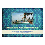GC   Cool Blue Vintage   Merry Christmas Invitations
