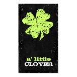 GC Customizable Clover Lime Business Card Templates