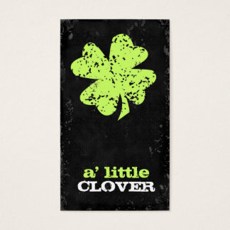 GC Customizable Clover Lime Business Card