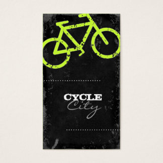 GC | Cycle City Concrete - Lime Business Card