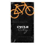 GC   Cycle City Concrete - Orange Business Card Templates
