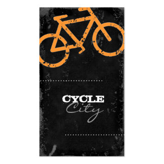GC | Cycle City Concrete - Orange Business Card Templates