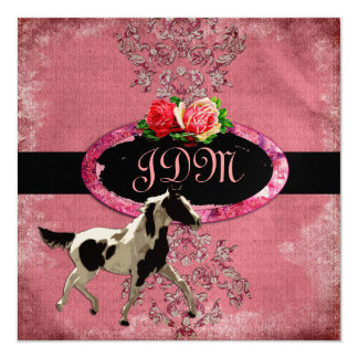 GC | Eclectically Vintage Damask Horse Fade Red Card