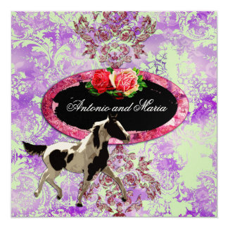 GC | Eclectically Vintage Damask Horse Lilac Card