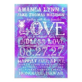 GC Eclectically Vintage Endless Love Aqua Purple Card