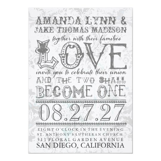 GC Eclectically Vintage Two Become One Gray Card