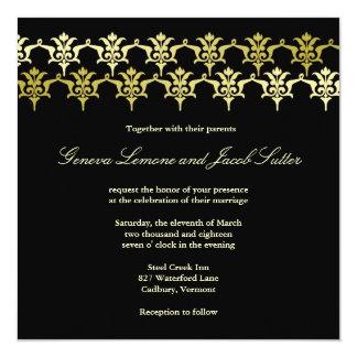 GC | Elegant Black Fleur Unity Wedding Invitation