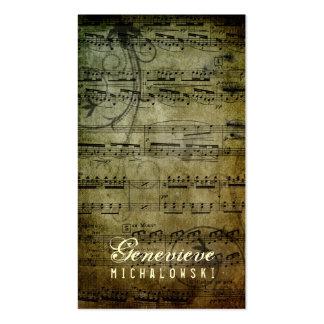GC   Eloquent Grunge Music Business Cards