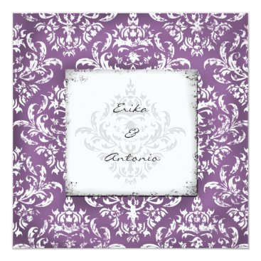 Beach Themed GC | Erika Vintage Damask-Eggplant Card