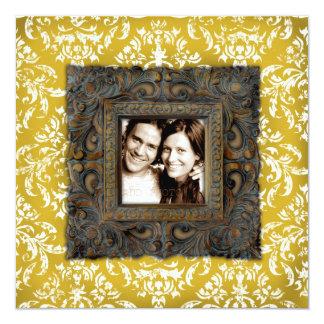 GC | Erika Vintage Damask Frame Photo Card