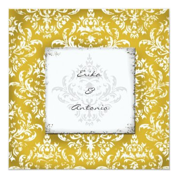 Beach Themed GC | Erika Vintage Damask-Golden Card