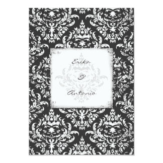 GC | Erika Vintage Damask-Gray 5x7 Card