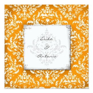 GC Erika Vintage Damask-Orange Card