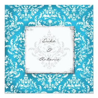 GC | Erika Vintage Damask-Turquoise Card