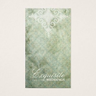 GC | Exquisite Lime  Vintage Business Card
