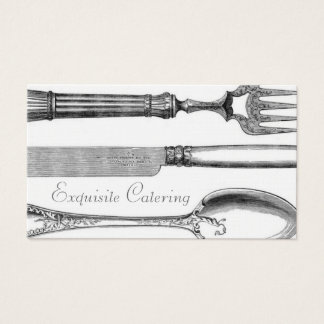 GC | Exquisite Table Setting Linen Paper Business Card