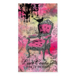 GC | Fabulously French Colorful Pink Damask Double-Sided Standard Business Cards (Pack Of 100)