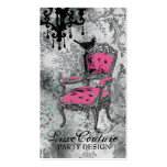 GC   Fabulously French Gray Damask Double-Sided Standard Business Cards (Pack Of 100)