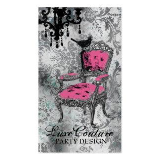 GC   Fabulously French Gray Damask Business Card