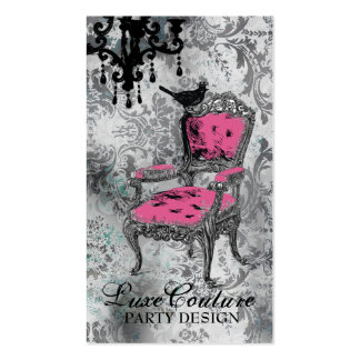 GC | Fabulously French Gray Damask Business Cards