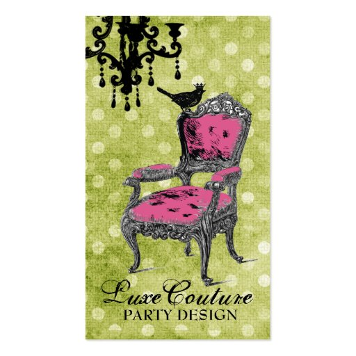 GC Fabulously French Lime Dots Double-Sided Standard Business Cards (Pack Of 100)