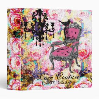 GC | Fabulously French Shabby Rose Vinyl Binders