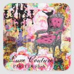GC Fabulously French Shabby Rose Square Sticker
