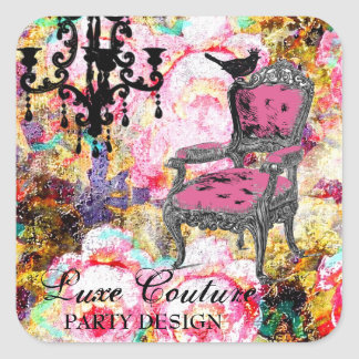GC Fabulously French Shabby Rose Square Sticker