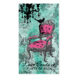 GC Fabulously French Turquoise Damask Double-Sided Standard Business Cards (Pack Of 100)