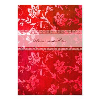 GC | Floral Red Ravine Card