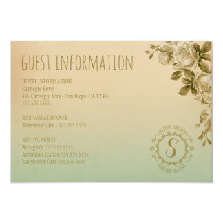 GC FOREVER IN LOVE GUEST INFO CARD