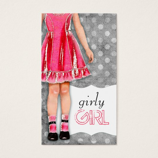 GC | Girly Girl Doll Hot Pink Business Card
