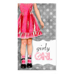 GC | Girly Girl Doll Hot Pink Business Card Templates