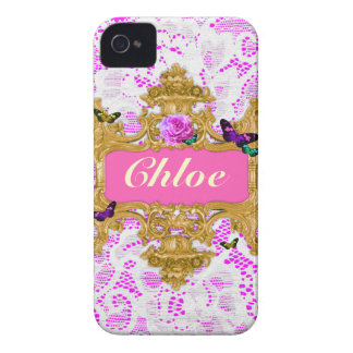 GC Glam Wonderland Gold Lace iPhone 4 Case-Mate Cases