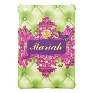 GC Glam Wonderland Pink Lime Tuft iPad Mini Cover