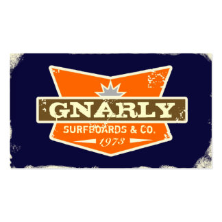 GC | Gnarly Navy | Orange Double-Sided Standard Business Cards (Pack Of 100)