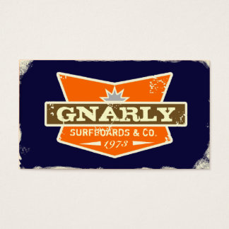 GC | Gnarly Navy | Orange Business Card