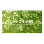GC | Gorgeous Green Floral Double-Sided Standard Business Cards (Pack Of 100)