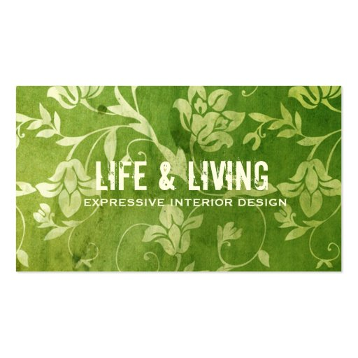 GC | Gorgeous Green Floral Business Card