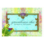 GC Greenhouse Chic Gift Certificate Personalized Invitation