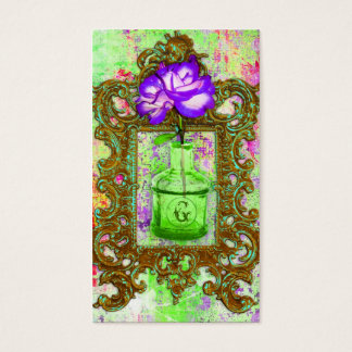 GC | Greenhouse Chic Lime Purple Business Card