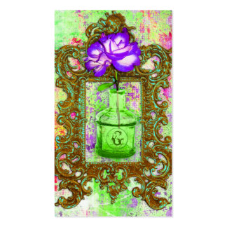 GC | Greenhouse Chic Lime Purple Business Card Templates