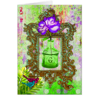 GC | Greenhouse Chic Lime Purple Card