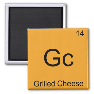 Gc - Grilled Cheese Funny Chemistry Element Symbol Magnet