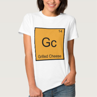 Gc - Grilled Cheese Funny Chemistry Element Symbol T Shirts