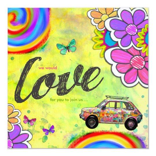 GC Hippy Tie Dye Invite | Zazzle.com