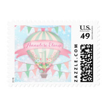 GC Hot Air Balloon First Birthday Postage